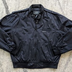 80s Vintage Black Members Only Bomber Jacket